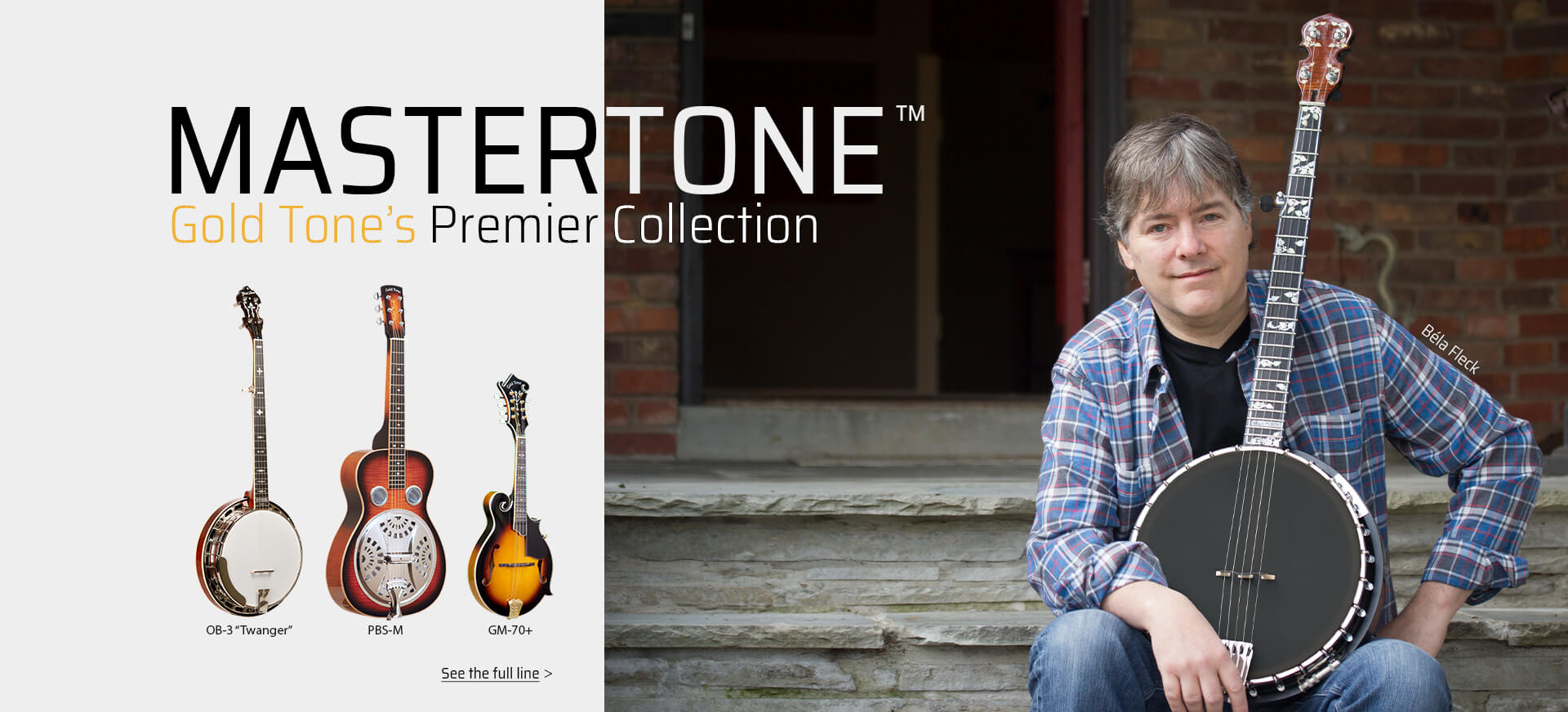 Mastertone, Gold Tone's premier collection. See more