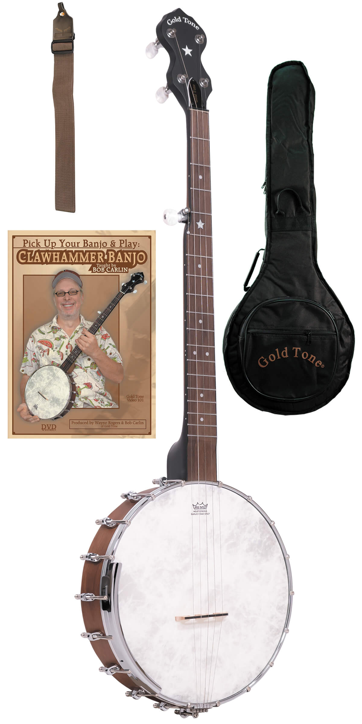 CC-OT: Cripple Creek Banjo Clawhammer Package