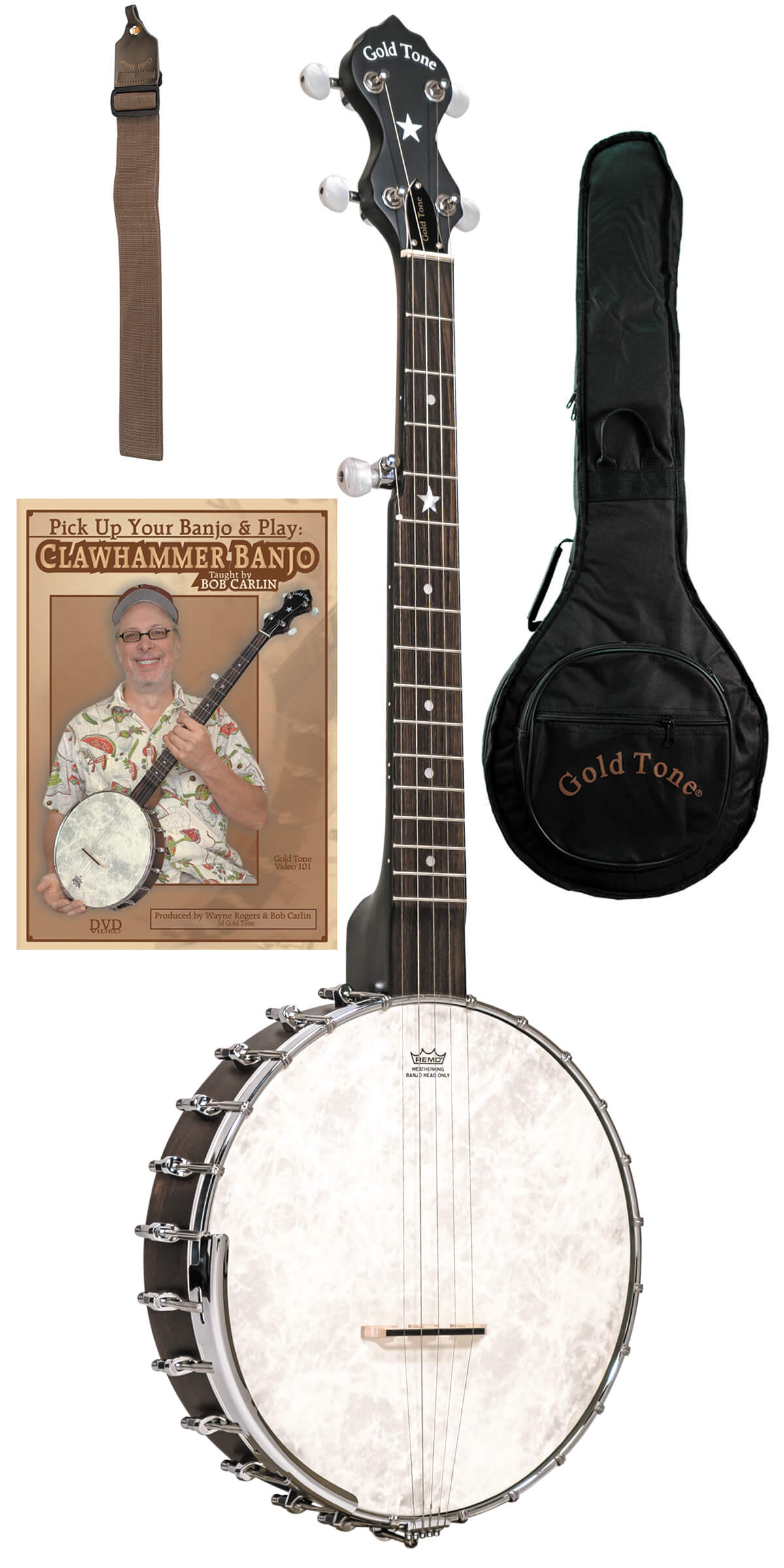 CC-OTA: A-Scale Cripple Creek Banjo Clawhammer Package