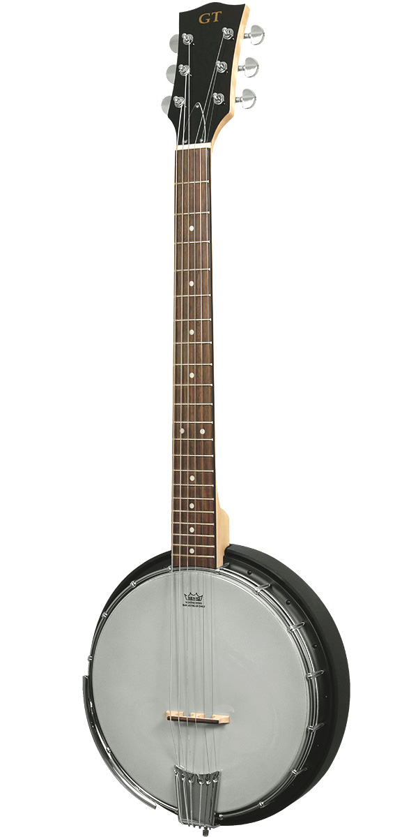 AC-6: Acoustic Composite 6-String Banjo Guitar with Gig Bag