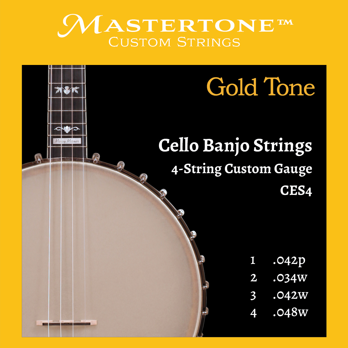 Banjo Cello 4-String Custom Gauge Strings