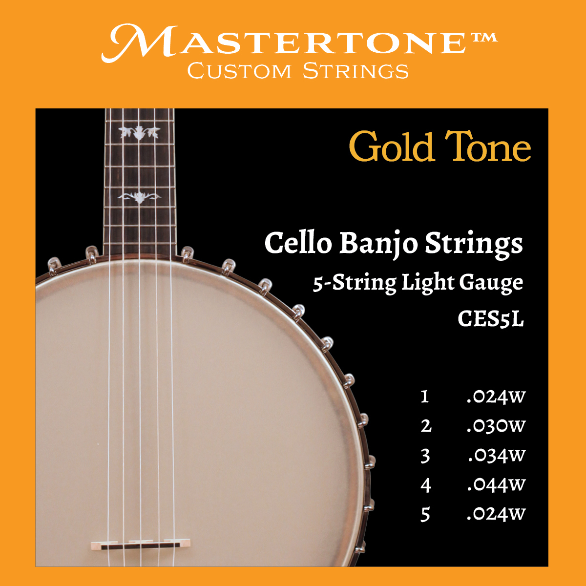 Banjo Cello 5-String Light Gauge Strings