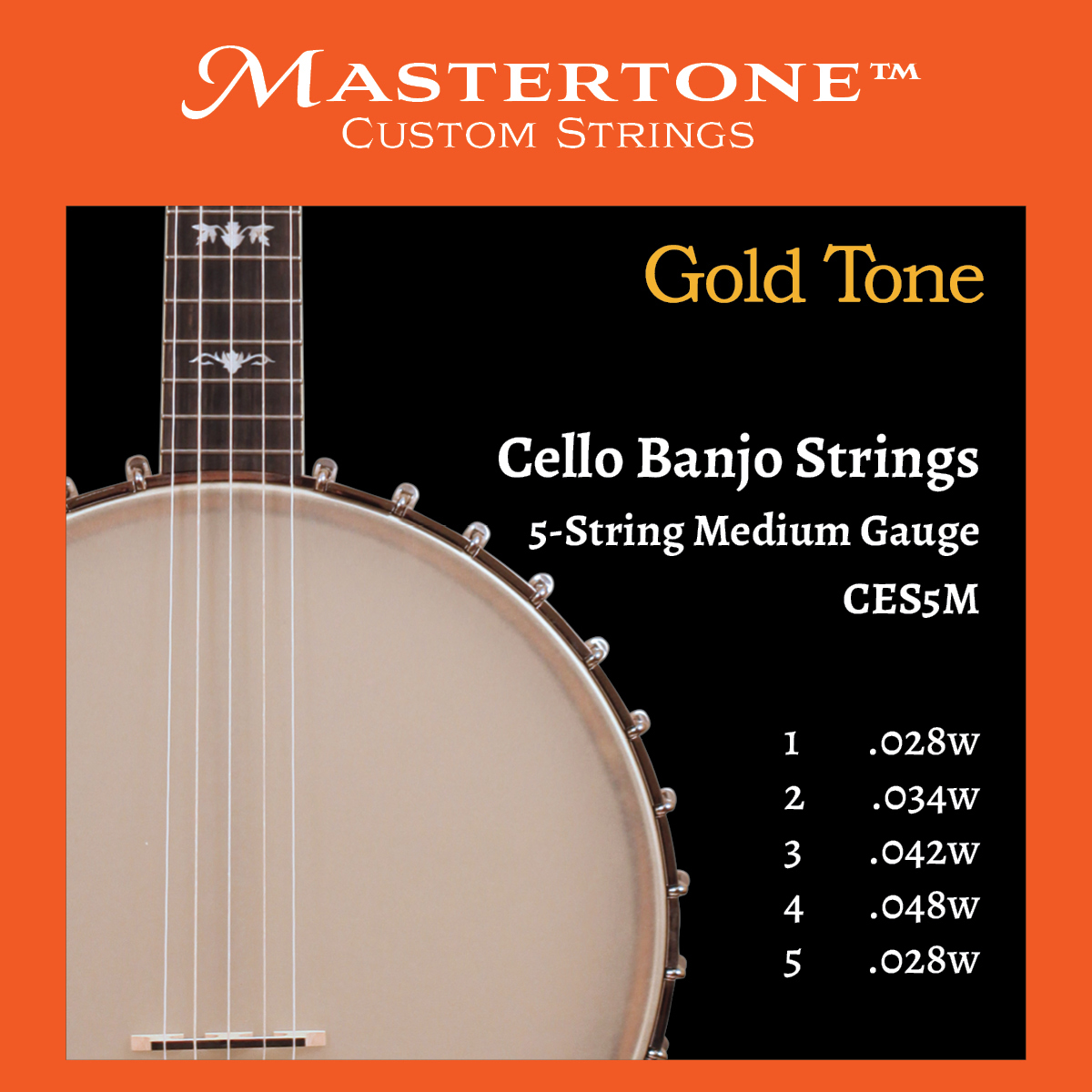Banjo Cello 5-String Medium Gauge Strings