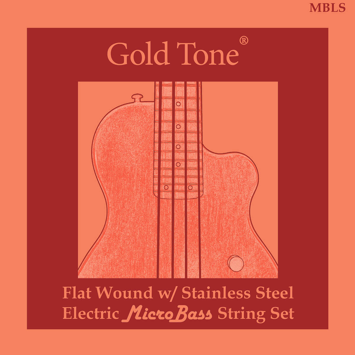 MicroBass LaBella Flat Wound Strings