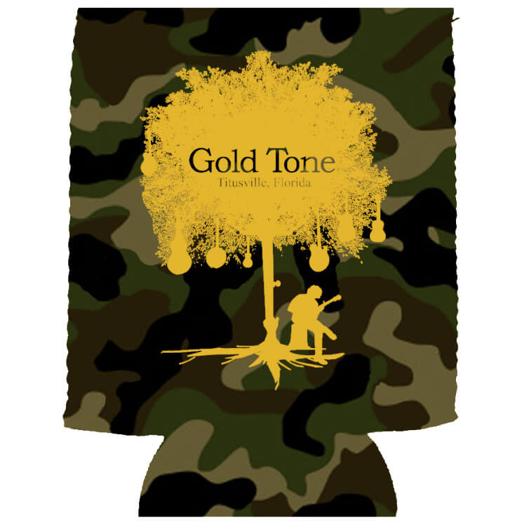 Gold Tone Can Koozie
