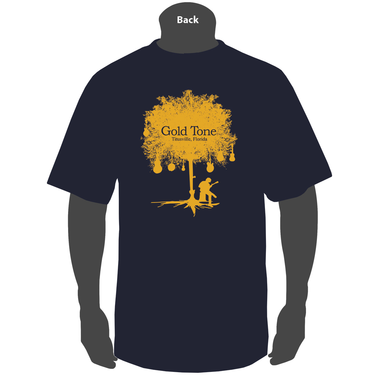 Gold Tone 'Tree of Life' (Navy)
