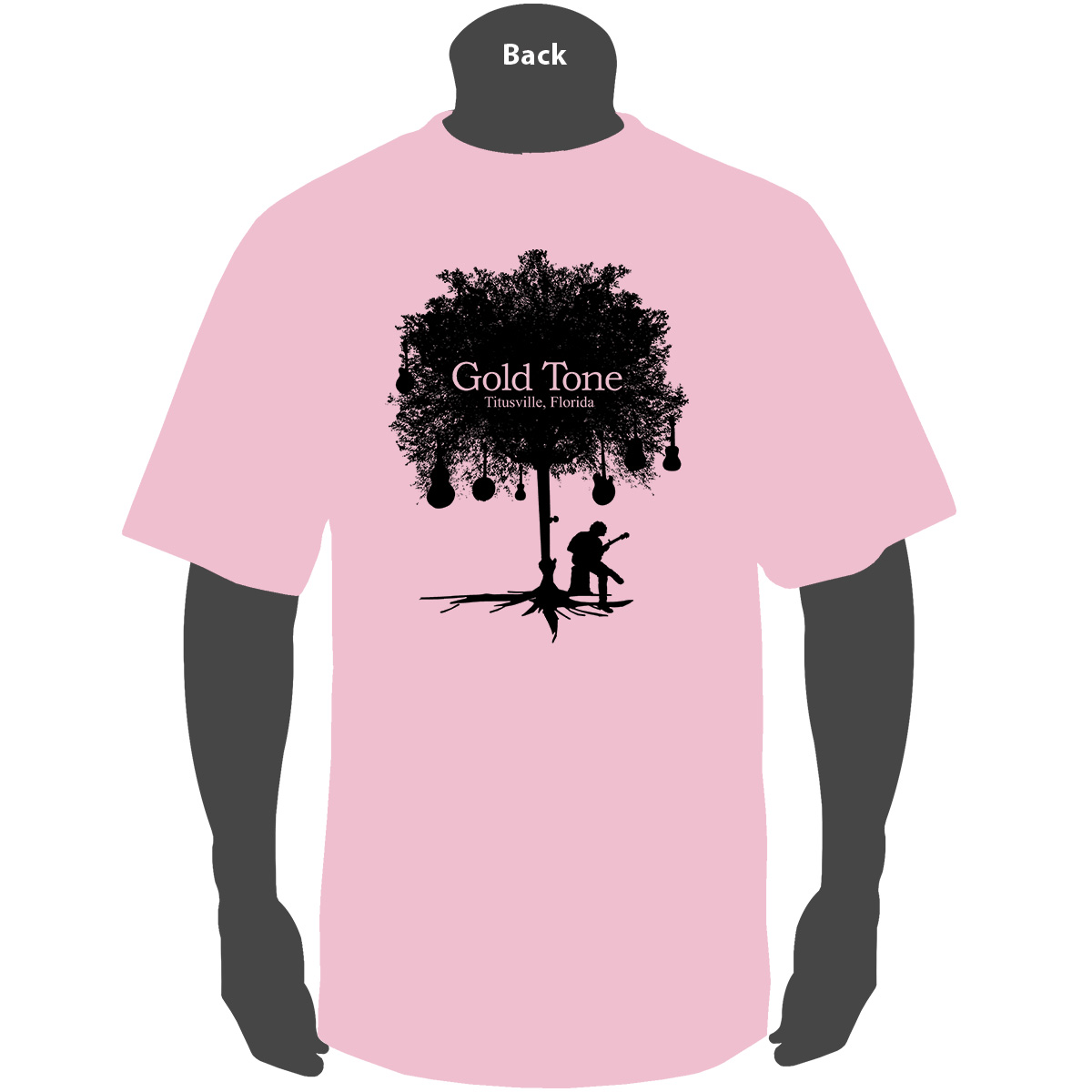 Gold Tone 'Tree of Life' (Pink)