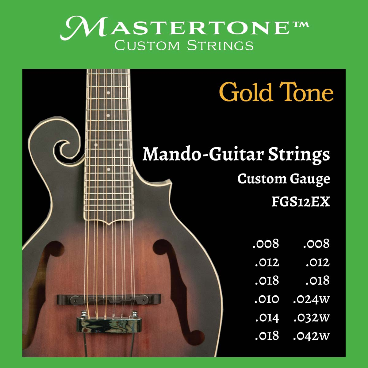 12-String Mando-Guitar Strings (Extra Light)