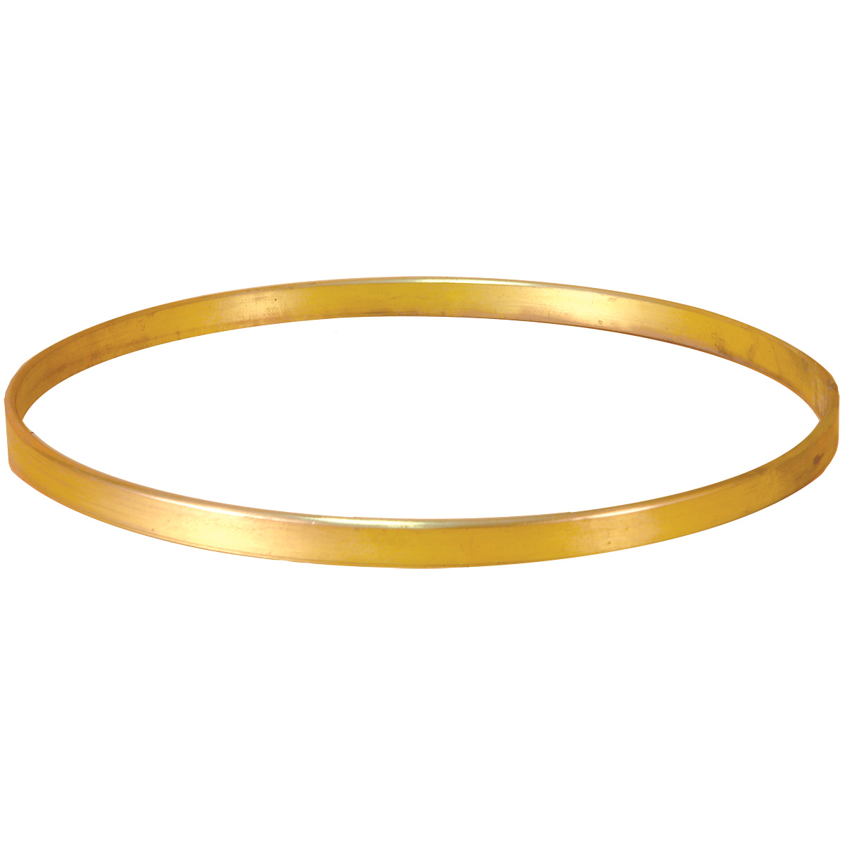 Flat Bar Rolled Brass Tone Ring