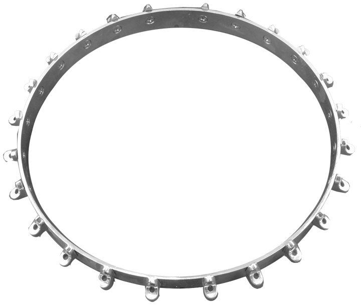 Flange, bracket band chrome