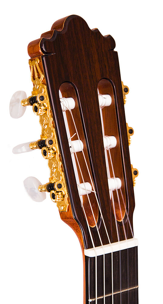 The Headstock of the Studio line of Ramirez guitars