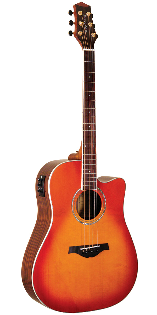 Wood Song DCE Dreadnought Cutaway Acoustic-Electric Guitar with Pickup